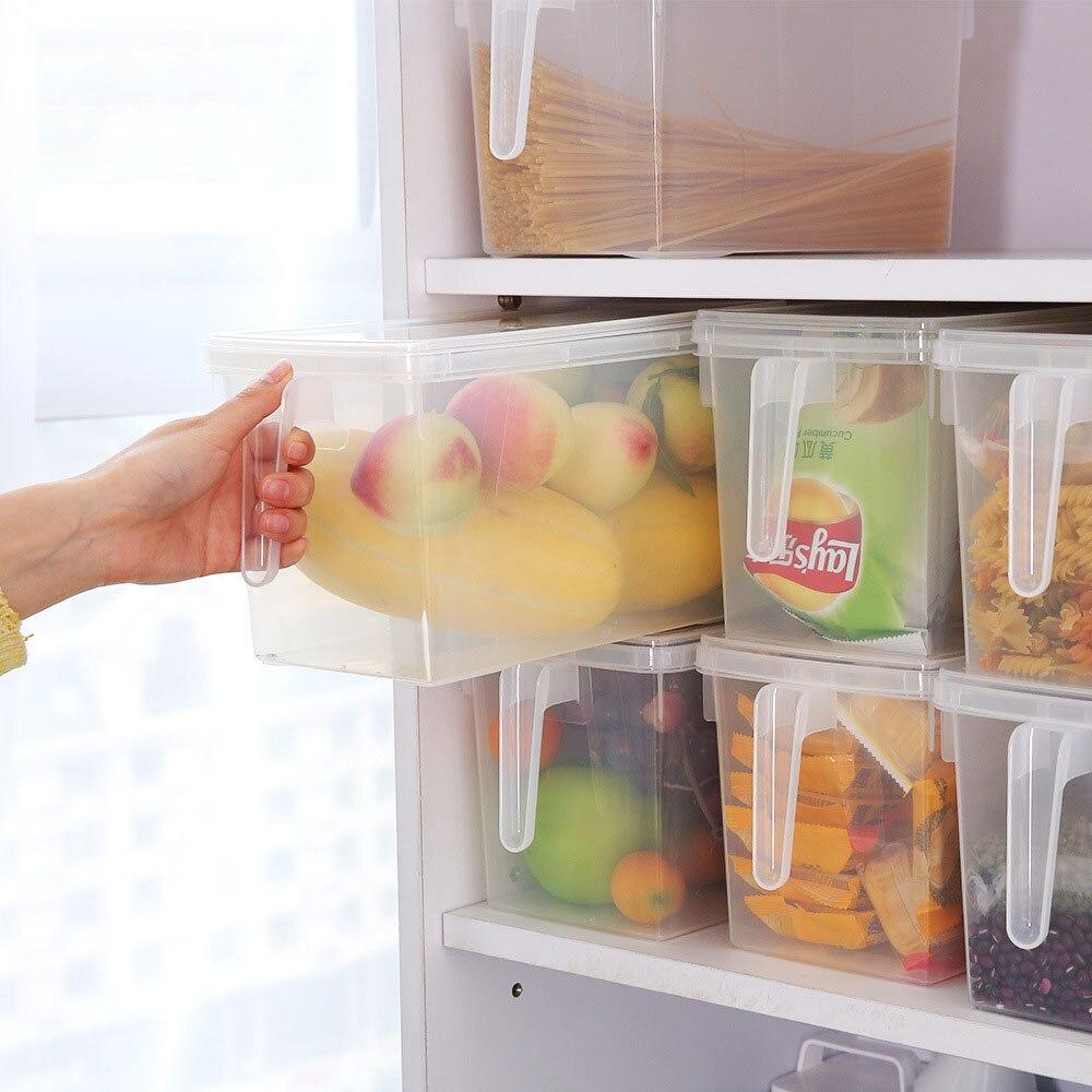 1 шт., для хранения фруктов, для кухни, креативный ассортимент, коробка для хранения продуктов, овощей, большая коробка с ручкой