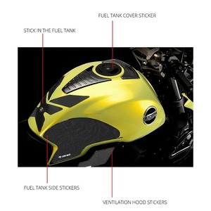 Image 3 - אופנוע דלק שמן טנק מדבקות 5D אפוקסי מדבקת שריטה עמיד מגן עבור KIDEN KD150 G1 הונדה סוזוקי ימאהה קוואסאקי