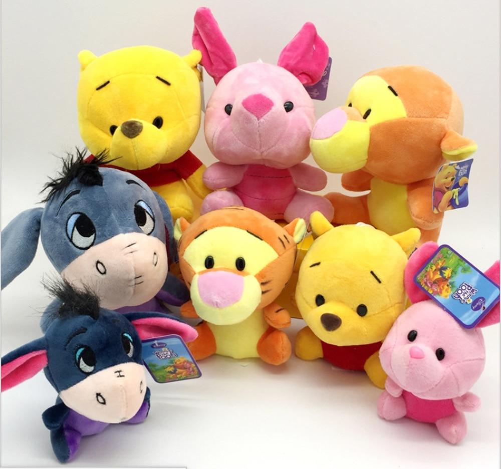 Wholesale Winnie-the-Pooh bear series plush toys pig tiger donkey doll small pendant grab machine small doll wedding gifts
