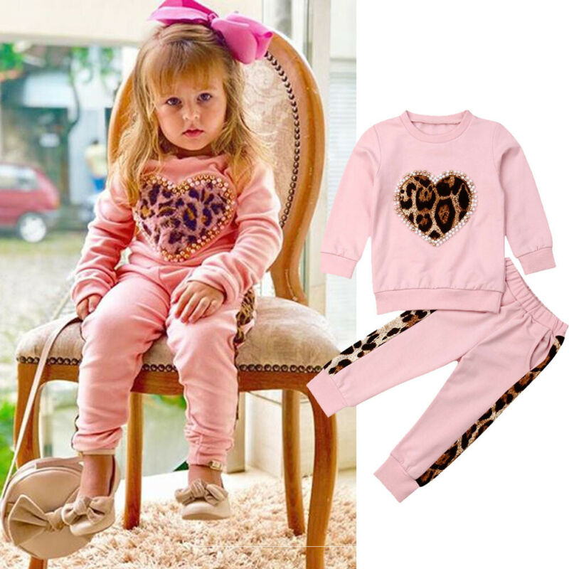 Pudcoco Brand New Toddler Kid Baby Girls Cotton Tops Shirt Pants Long Outfits Set Clothes