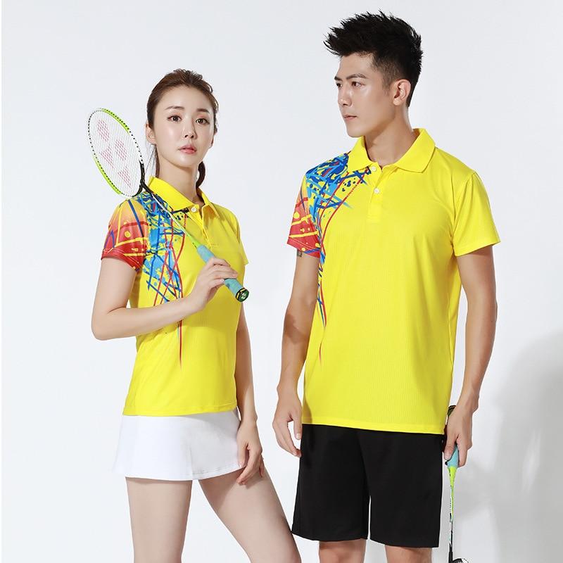 Masculino e Feminino Camisa de Tênis Jerseys e Shorts Esportivas de Manga Treino de Badminton Ternos de Treinamento Peteca Saia Badminton Roupas Curta