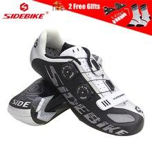 SIDEBIKE Ultralight Microfiber Bicycle Shoes Road Mountain Bike Professional Anti-skid Breathable Self-locking MTB
