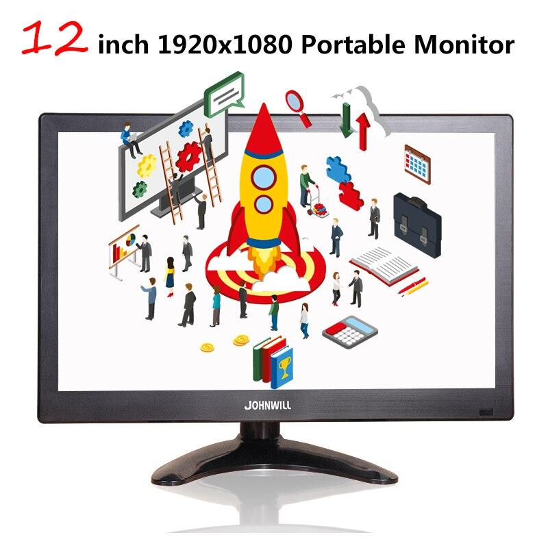 12 дюймовый ЖК Портативный HDMI монитор для Macbook Pro VGA интерфейс 1920x1080 игровой дисплей для домашней системы безопасности PS4 Xbox360