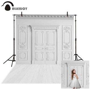 Image 1 - Allenjoy Wit Fotografie Backrop Muur Vloer Bruiloft Photozone Achtergrond Verjaardag Heilige Communie Photoshoot Studio Photophone