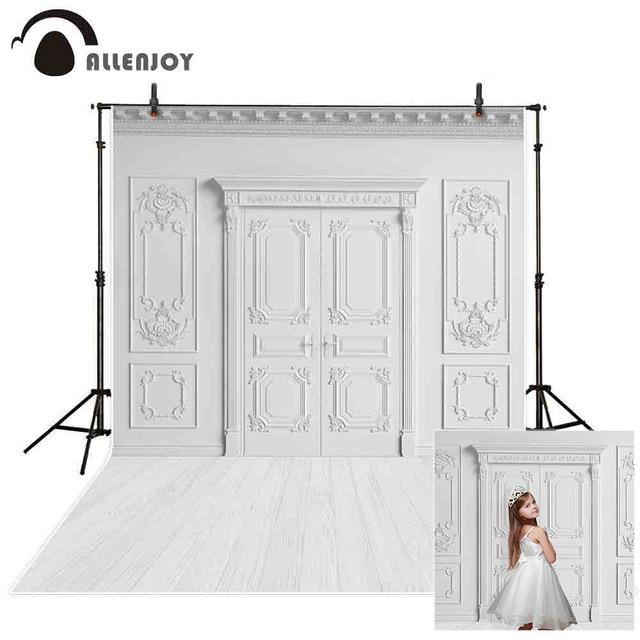 Allenjoy Wit Fotografie Backrop Muur Vloer Bruiloft Photozone Achtergrond Verjaardag Heilige Communie Photoshoot Studio Photophone
