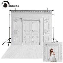Allenjoy fundo de parede fotografia branca, fundo de parede para fotografia de casamento, aniversário, comunhão, fotografia