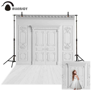 Allenjoy white photography backrop Wall Floor Wedding Photozone Background Birthday Holy Communion photoshoot studio Photophone