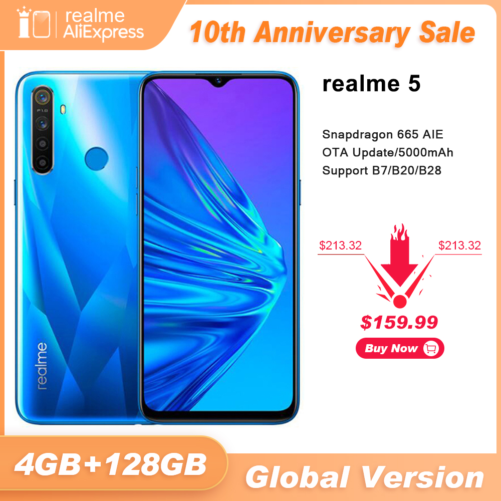 Realme 128GB 4gbb LTE/WCDMA/GSM Adaptive Fast Charge Bluetooth 5.0 Octa Core Face Recognition/fingerprint Recognition title=