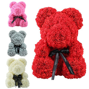 Image 2 - HOT Valentines Day Gift Led Rose Teddy Bear Rose Flower Artificial Decoration Christmas Gifts Women Valentine Bithday Gift