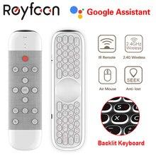 Q40 voix télécommande Gyros 2.4G sans fil Mini clavier avec IR apprentissage Air souris pour Android TV Box Google assistant W2