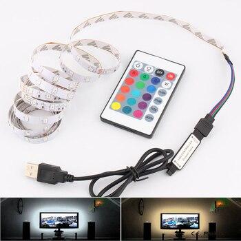 DC 5V RGB LED Strip USB PC TV Backlight 2835 SMD 50CM 1M 2M 3M 4M 5M Lights Lamp Tape Ribbon Ambilight