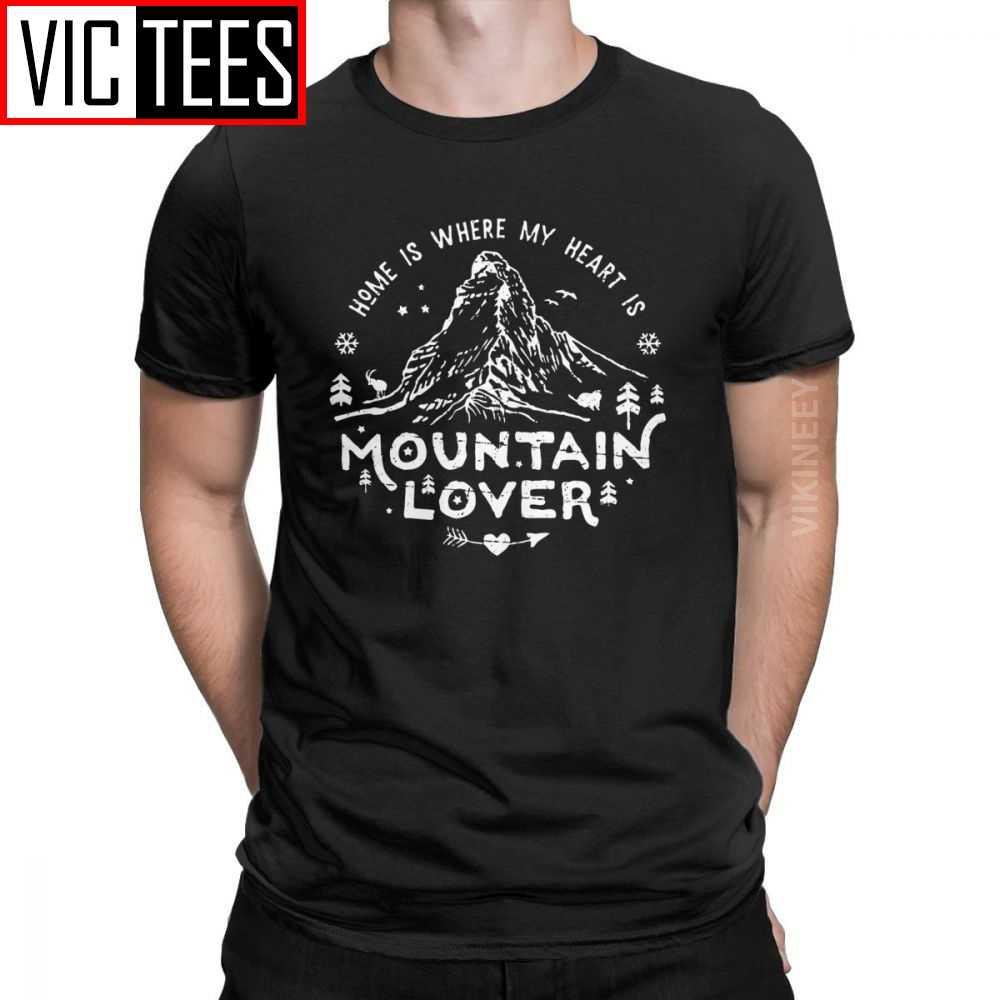 הרי מאהב Matterhorn T חולצה גברים כותנה מקרית חולצה ההרים קורא Matterhorn טיפוס טיולים בגדי חורף