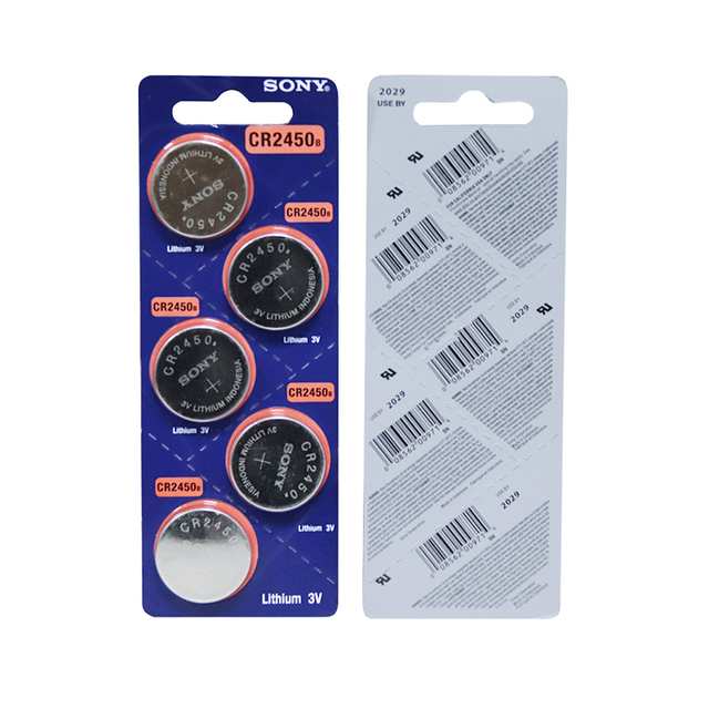 5PCS SONY CR2450 3V CR 2450 DL2050 BR2450 Lithium Button Cell Battery For Remote Control LED tea light vibes Calculators Car 6