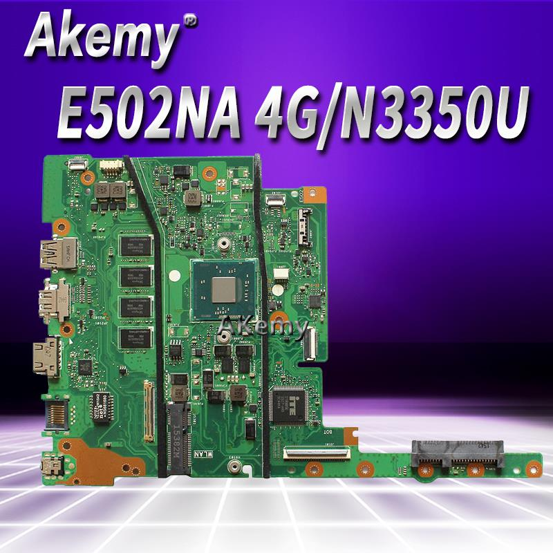 E402NA MAIN_BD.4G/N3350U/AS Mainboard For ASUS E402NA Laptop Motherboard  E402NA Motherboard 100% Tested OK