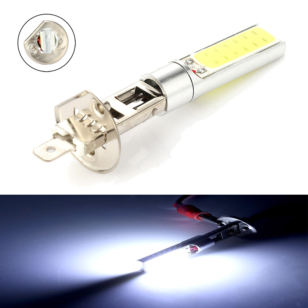 Universal high quality H1 6000K LED Fog Lights Headlight White COB LED Headlight Hi/Lo Beam Bulbs Driving Lamps