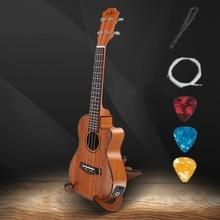 Mahogany Ukulele Guitarra Tenor Acoustic Electric 4-Strings 23-26inch Wood Concert Uke