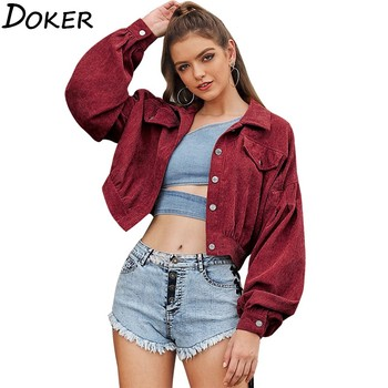 Autumn Winter Short Jacket Women Turn-down Collar Long Sleeve Plus Size Fashion Vintage Coat Female Harajuku Coats And Jackets new fashion women female korean short type long sleeve slim motor zipper leather jackets coats