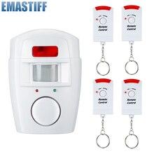 Sécurité à domicile PIR MP alerte capteur infrarouge Anti vol détecteur de mouvement moniteur dalarme système dalarme sans fil + 2 télécommande
