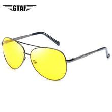 Glasses Drivers Night-Vision Yellow Men Frames Lenses Discoloration Metal Women Men's