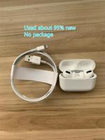 Apple-BluetoothワイヤレスヘッドセットAirpodsPro,アクティブノイズキャンセル,充電ケース付き,急速充電