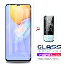 Para vovi y31 2021 protetores de câmera de vidro para vivo y31 y 31 31y v2036 6.58 smartphone smartphone smartphones armadura proteção de segurança óculos vivoy31