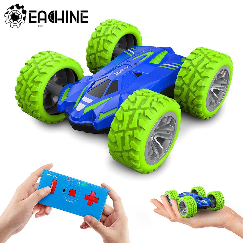 Eachine ec07 RC araba 2.4G 4CH dublör sürüklenme deformasyon uzaktan kumanda kaya paletli rulo kapak çocuklar Robot otomatik oyuncak