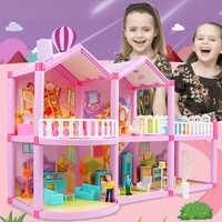 Nuevos accesorios para muñecas de la Casa de la muñeca de la familia DIY juguete con muebles en miniatura garaje Casa de muñecas Casa juguetes para niñas cumpleaños regalo