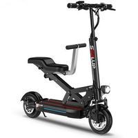 Smart duas rodas scooter elétrico 10 Polegada 500w bicicletas elétricas 48v dobrável scooter elétrico adulto com dois assento