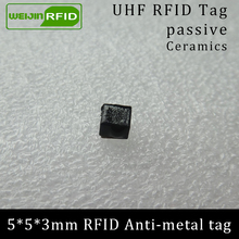 UHF RFID anti-metal tag 915mhz 868mhz Alien Higgs3 EPCC1G2 6C 5*5*3mm very small square Ceramics smart card passive RFID tags free shipping iso11784 5 fdx b low power lf rfid module passive reading 2pcs tags