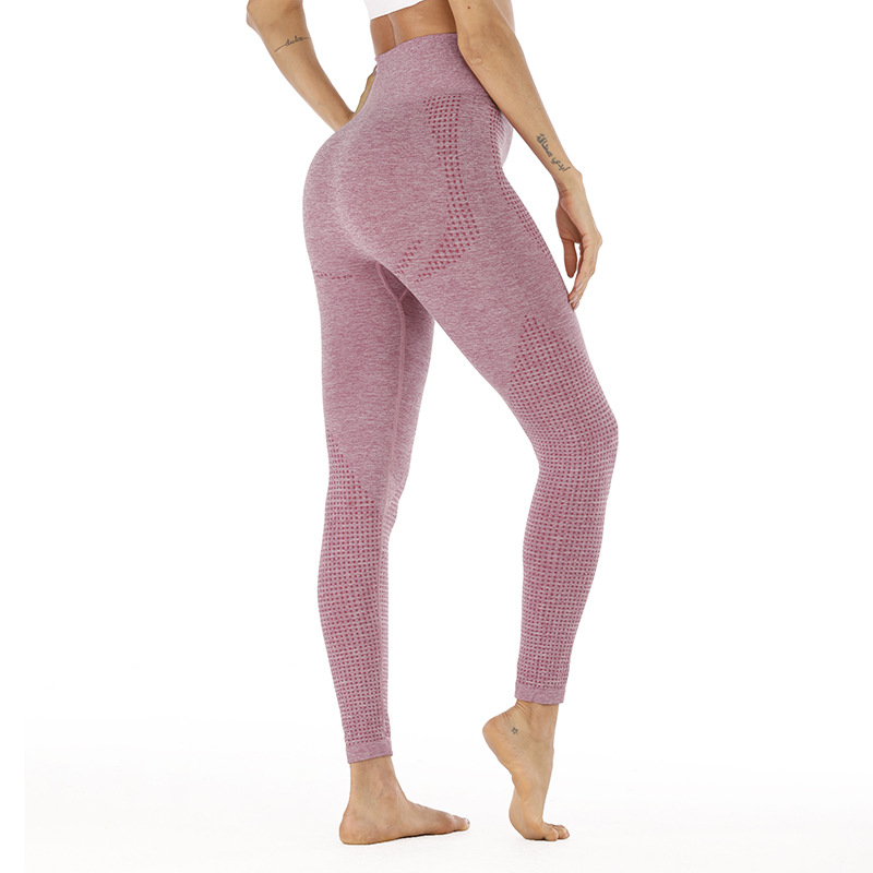 Style Lifting Buttocks Seamless Yoga Pants Jacquard Little High Waist Speed Dry Pants Fitness Sports Underpants Women Net Cloth