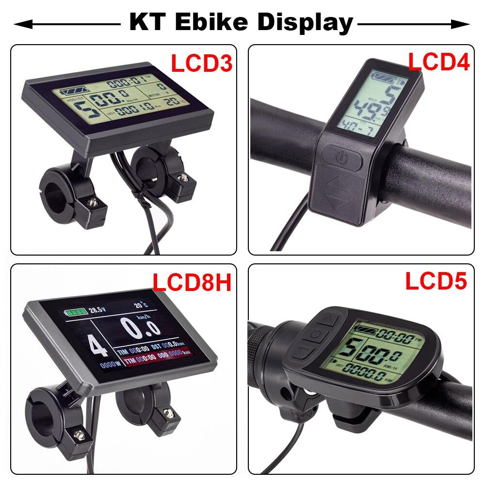 E الدراجة شاشة الكريستال السائل KT LCD8H LCD3 LCD4 LCD5 Ebike عرض ل KT تحكم 24 فولت 36 فولت 48 فولت E-الدراجة عرض دراجة كهربائية الملحقات