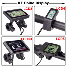 E bicicleta display lcd kt lcd8h lcd3 lcd4 lcd5 ebike display para kt controlador 24v 36v 48v e-bike display bicicleta elétrica acessórios