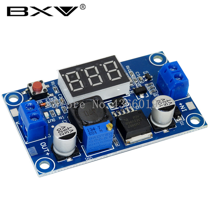 DC-DC Buck Step Down Module LM2596 DC/DC 4.0~40V To 1.25-37V Adjustable Voltage Regulator With LED Voltmeter