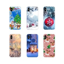 For LG G3 G4 Mini G5 G6 G7 Q6 Q7 Q8 Q9 V10 V20 V30 X Power 2 3 K10 K4 K8 2017 TPU Cover Merry Christmas happy New Year tree Snow(China)