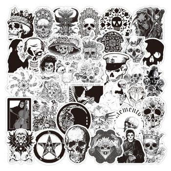 Retro style Gothic series skull graffiti stickers Toy For Car Styling Bike Motorcycle Laptop Waterproof Sticker Bomb Jdm decals image