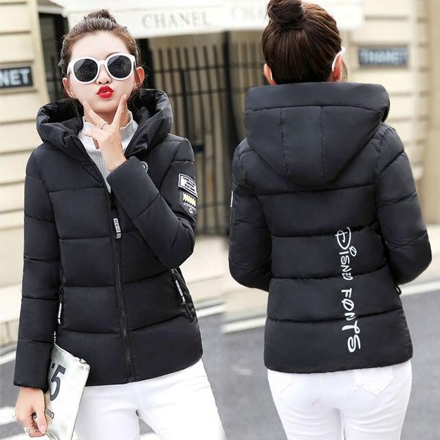 2020 nouveau hiver Parkas femmes veste à capuche épais chaud court veste coton rembourré Parka basique manteau vêtements de dessus pour femmes grande taille 5XL 2