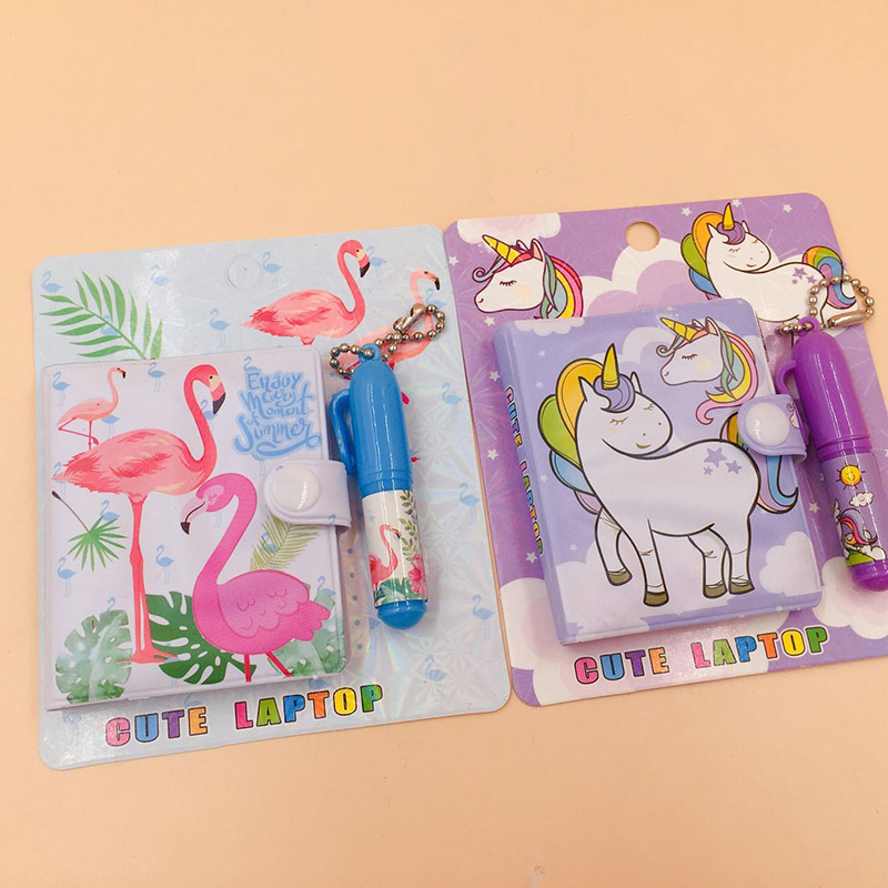 1 pcs Kawaii Unicorn Flamingo Notebook Ballpoint Pen Set Cute Lovely Stationery Set for Kids Novelty Gifts School Supplies in Stationery Set from Office School Supplies