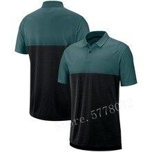 2020 New Men Philadelphia Sideline Early Season Performance America FootballPolo Green Black Rugby Shirt NZ Jersey недорого
