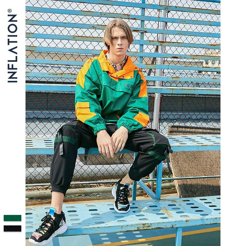 Куртка пуловер на молнии, модное пальто в стиле хип хоп для мужчин, уличная одежда, осенние куртки для пар, цветное пальто в стиле пэтчворк, 8743W|Куртки|   | АлиЭкспресс - Утепляемся: одежда для осени