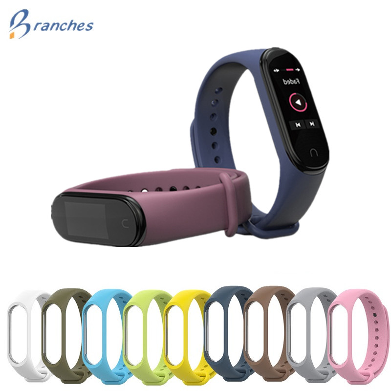 Mi Band 4 Strap Bracelet Silicone Wristband Xiomi Band Black Smart Miband 4 3 Band Accessories Wrist Strap For Xiaomi Mi Band3 4