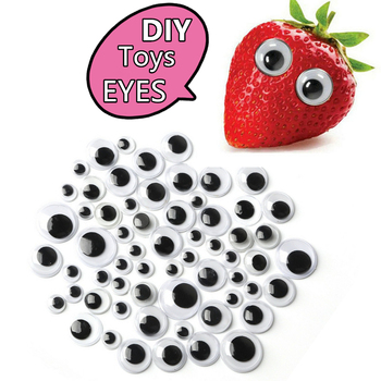 DIY Crafting Animal Black Plastic Eyes Googly Eyes Stickers 6/8/10/12/15mm Mixed For Toys Dolls Arts and Crafts Supplies Eyeball image