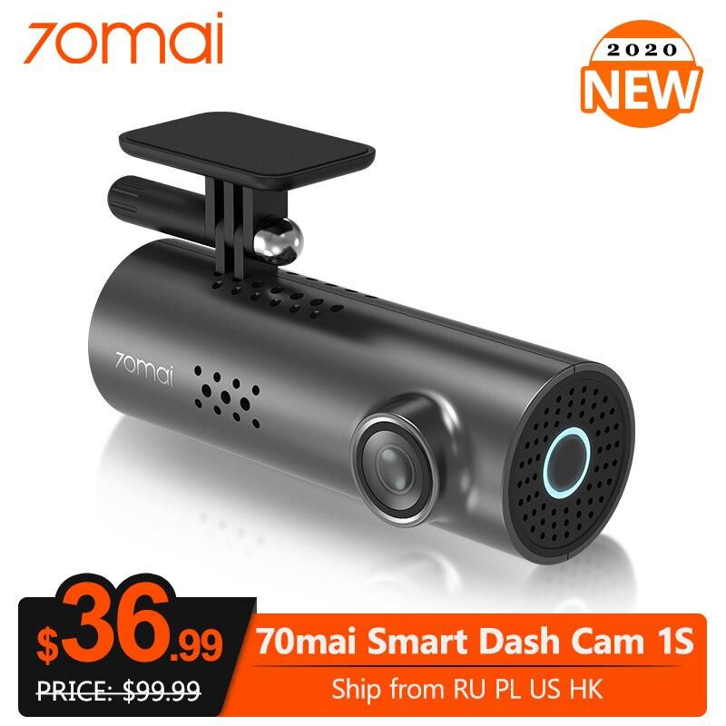 70mai traço cam 1s app inglês controle de voz câmera dvr carro wifi 1080p hd visão noturna g-sensor 70 mai 1s dashcam gravador de vídeo