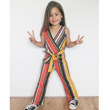 Newborn Kid Baby Girls Striped Bow Romper Bodysuit Jumpsuit Outfits Clothes Classic Stripe Fashion Casual Girls Jumpsuit 2019(China)