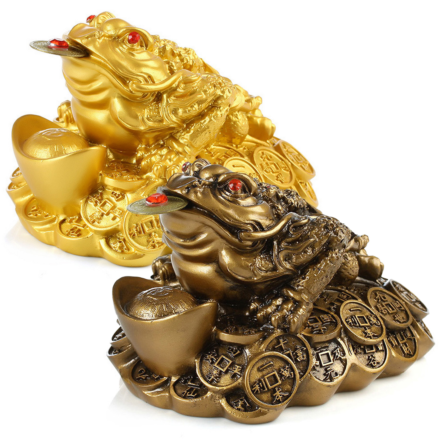 1pc Chinese Mini Fortune Lucky Coin Frog Feng Shui Money Toad Fortune Wealth For Office Decoration Tabletop Ornaments Lucky Gift
