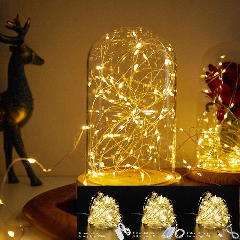 Guirnalda de decoración de Año Nuevo con luces USB, adornos navideños para el hogar, regalos de Navidad, decoración de árbol de Navidad