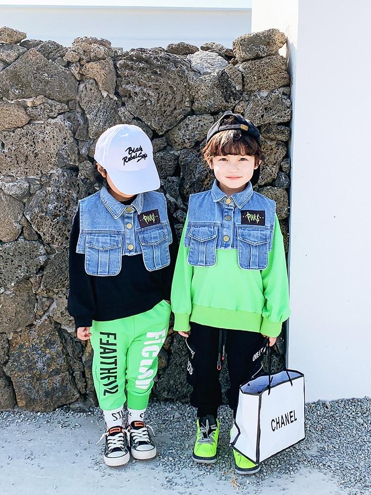Boys Western Style Sweater Children Tops Tide Paragraph Children Baby 2020 Spring New  Boy Korean Version of Spring 1