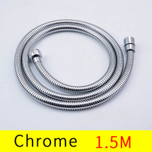 Chrome Polished 150cm G1/2 Shower Hose Bathroom Accessories Solid Brass Flexible Hose bath contect hand shower lf12003 g1 2 g1 2 flexible shower hose high quality pvc light blue shower hose
