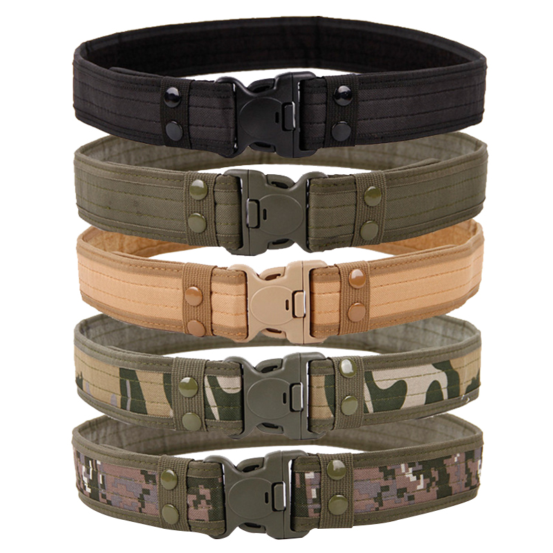Military Equipment Army Belt Camping Men's Heavy Duty Soldier Combat Tactical Belts Sturdy Waistband Camping Outdoor Women Belt