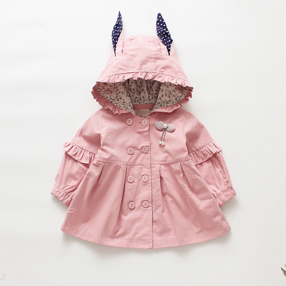 Coat Baby-Girls Jacket Outerwear Hoodie Long-Sleeve Autumn Toddler Infant Casual Cartoon