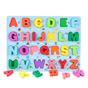 Kids 3D Wooden Puzzle Toys Colorful Number Letter Geometry Shape Cognition Grasp Board Early Learning Educational Montessori Toy